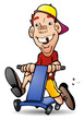 playing bike