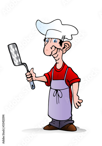 chef hold spatula