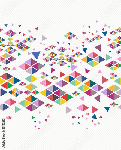 Poster Geometrische dieren Trendy vintage hipster geometric seamless pattern.