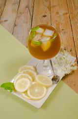 Glass of iced tea