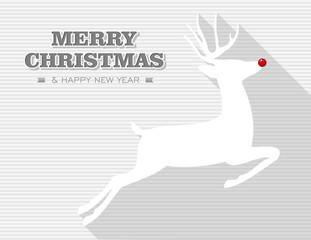 Merry Christmas Rudolph jumping reindeer.