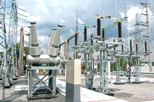 Leinwandbild Motiv Electric power substation