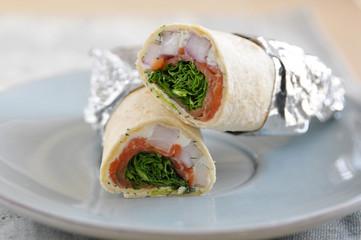 Tortilla Wrap mit Lachs