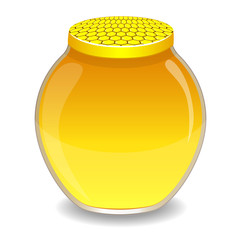 A jar with a honey, vector illustration