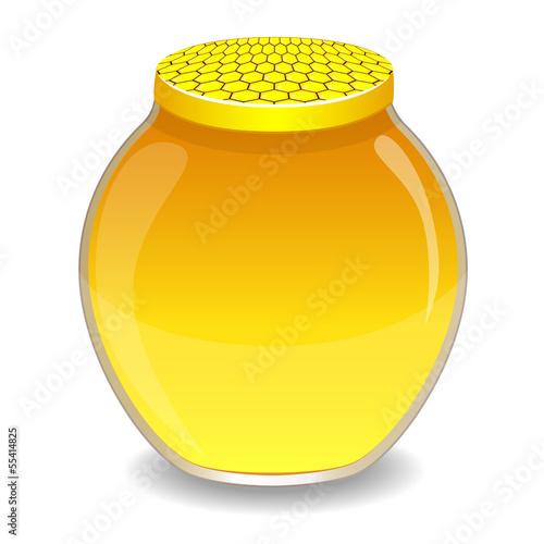 A jar with a honey, vector illustration