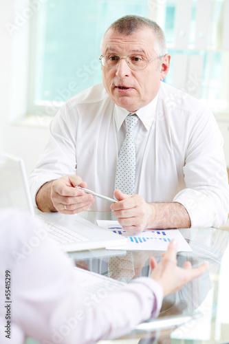 Boss speaking