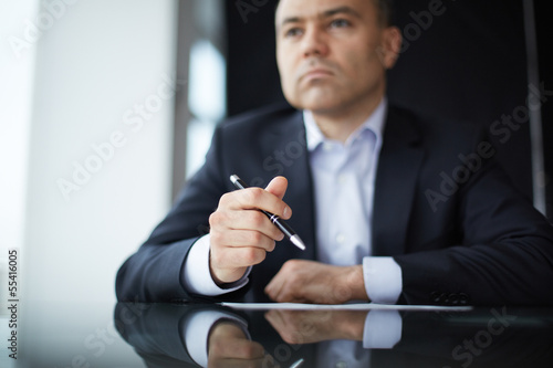 Man at workplace