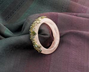 Beautiful gemstone bracelet decorated by gold tourmaline