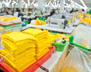 Industrial size clothes factory