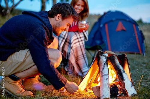Evening in camp