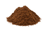 Fototapety coffee grounds on white background