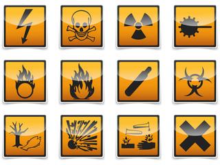 Danger symbols icon