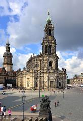 Dresden Schloßplatz - Hofkirche
