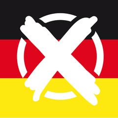 Wahlkreuz Deutschlandflagge