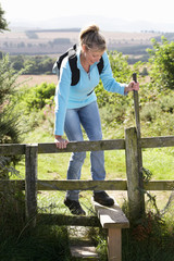 Mature Woman On Country Walk