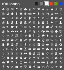 196 icons - white