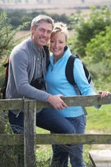 Mature Couple On Country Walk