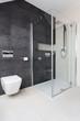 Urban apartment - glass shower
