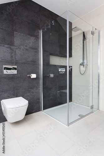 Urban apartment - glass shower