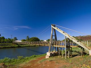 カウアイ島ハナペペのスインギングブリッジ