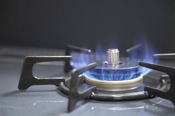 ガスコンロと炎