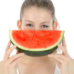 Teenager mit Wassermelone