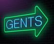 Gents neon sign.