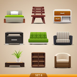 Furniture icons-set 8