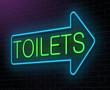Toilet neon sign.