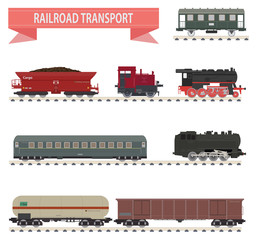 Trains. Railroad set
