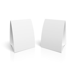 Blank paper table cards.