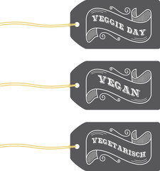 veggie day retro label