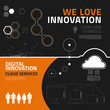 Innovation infographic elements, icons and symbols