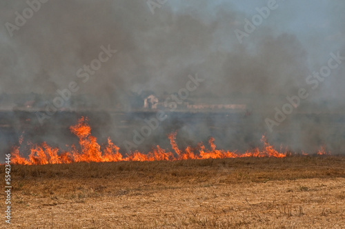 The fire on the field