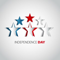 Independence Day star card in vector format