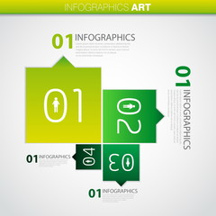 Vector infographics progress steps for tutorial, web