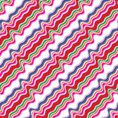 Seamless pattern with diagonal wavy lines
