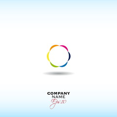 Abstact Infinite loop logo template. Corporate icon
