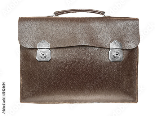 brown retro briefcase