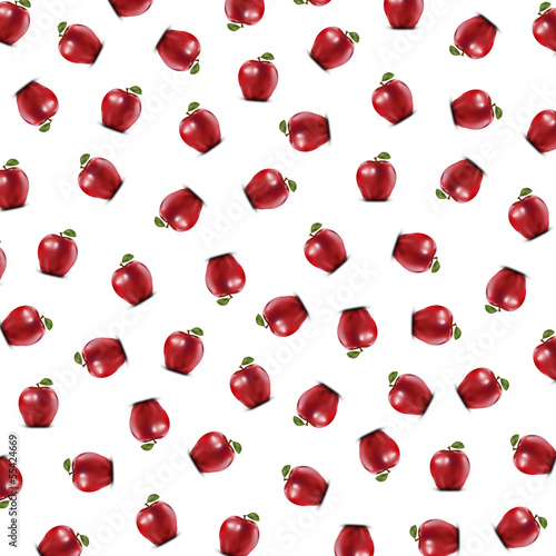 Background with apples arranged randomly