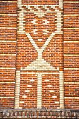 Madrid, decoración en ladrillo de una fachada
