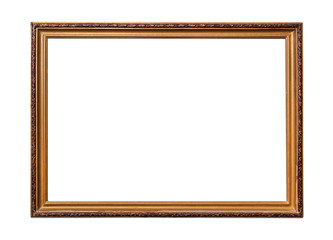 Frame of old-style baget isolated on white.