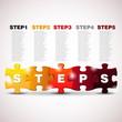 STEPS - Vector Puzzle progress icons