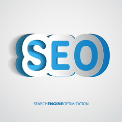 Search optimization concept sign in paper style