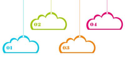 Diseño abstracto en la nube