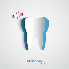 Sticker paper Tooth  - Vector Illustrati