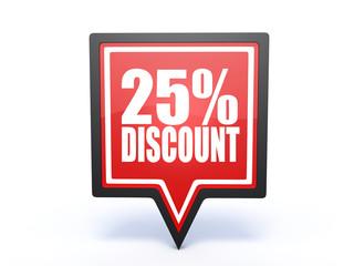 discount pointer icon on white background