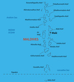 Republic of the Maldives - vector map