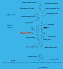 Republic of the Maldives - vector map