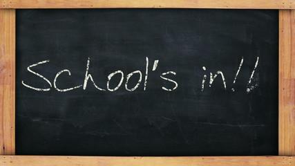 Schools in chalkboard
